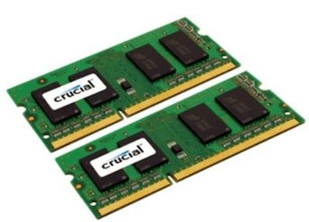 CRUCIAL 8GB=2x4GB DDR3L SO-DIMM 1600MHz PC3L-12800 CL11 1.35V/1.50V Dual Voltage - CT2KIT51264BF160B