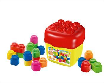 Hračka Clementoni Clemmy baby - 20 barevných kostek v kyblíku základní barvy - 14741.0