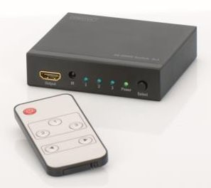 Digitus DS-48304 HDMI Video Switch 3 => 1, 4K, 3D - DS-48304