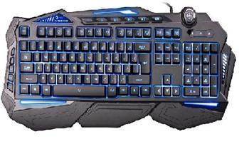 Herní klávesnice C-TECH Scorpia (GKB-107), CZ / SK, 6 barev podsvícení, programovatelná, černá, USB - KLACT1392