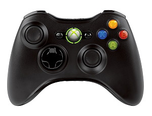XBOX 360 Wireless Controller Black new bulk - NSF-00002