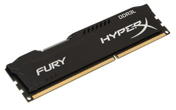 Kingston HyperX FURY 2x4GB 1600MHz DDR3L CL10 DIMM 1.35V, černý chladič - HX316LC10FBK2/8