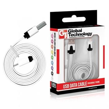 GT Cable USB for iPhone 5 (8-pin) IOS7+ white 1m - 5901836064745