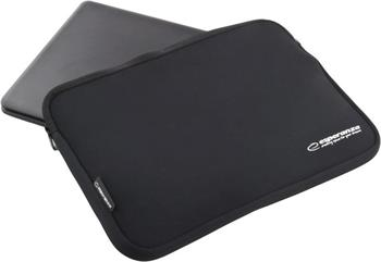 Esperanza ET175K pouzdro pro notebook 15.6'', 3mm neoprén, zip, černé - ET175K - 5901299903278