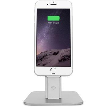 Twelve South HiRise Deluxe lightning kovový stojan na iPhone/iPad stříbrný - 12-1421