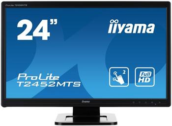 "LCD Monitor IIYAMA T2452MTS- 24""/1920 x 1080/HDMII/Multitouch/2ms - T2452MTS-B4"