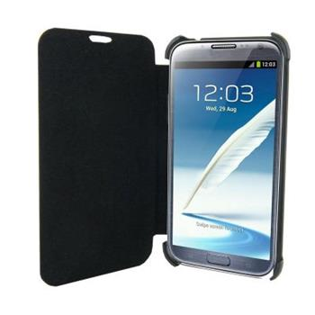 4World Ochranné pouzdro pro Galaxy Note 2, koženka, Slim, 5.5'', černý - 09142