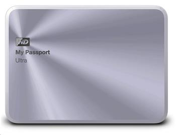 WD My Passport ULTRA Metal 2.5'' ext. HDD 2TB, USB 2.0/3.0 Silver - WDBEZW0020BSL-EESN