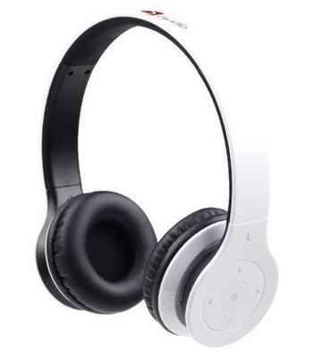 Gembird Bluetooth stereo sluchátka, mikrofon, bílá barva - BHP-BER-W