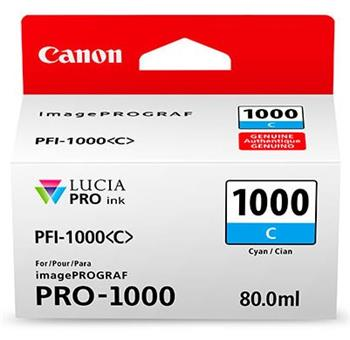 Canon cartridge PFI-1000C Cyan Ink Tank - 0547C001