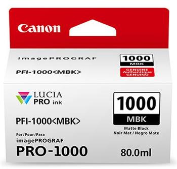 Canon cartridge PFI-1000MBK Matte Black Ink Tank - 0545C001
