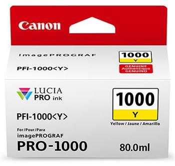 Canon cartridge PFI-1000Y Yellow Ink Tank - 0549C001