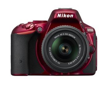 NIKON D5500 Red + 18-55 AF-P DX VR - VBA441K003
