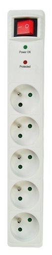 Solight přepěťová ochrana, 918J, 5z, 1,5m, bílá - PO50