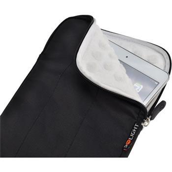 Solight nylonové pouzdro na tablet, e-čtečku do 7'', nárazuvzdorné polstrování, černé - 1N51