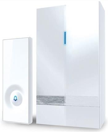 Solight bezdrátový zvonek, do zásuvky, 150m, bílý, learning code - 1L39