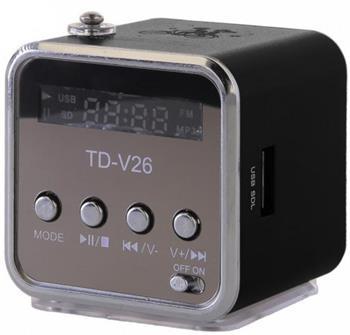 GT TD-V26 mini reproduktor, černý - 5901836065261