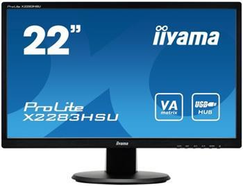 """LCD Monitor IIYAMA X2283HSU-B1DP - 21,5"""", DP, 3x USB, repro - X2283HSU-B1DP"""