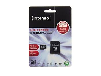 Intenso micro SD 32GB SDHC card class 10 - 3413480