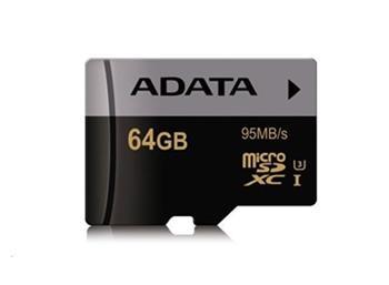 A-Data micro SDXC UHS-I U3 karta 64GB Class 10 - AUSDX64GUI3CL10-R