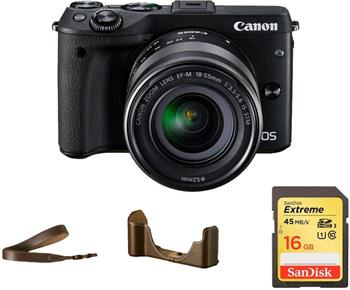 Canon EOS M3 / EF-M 18-55 IS STM Premium Kit - 9694B066