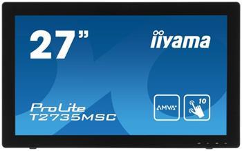 "LCD Monitor IIYAMA T2735MSC-B2- 27"", HDMI, USB, multidotek, kapacitní, 5ms, repro - T2735MSC-B2"