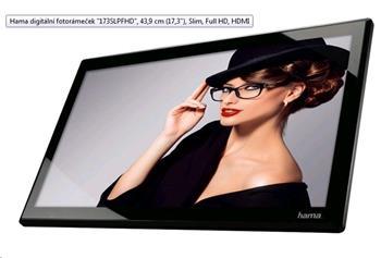 "Hama digitální fotorámeček ""173SLPFHD"", 43,9 cm (17,3""), Slim, Full HD, HDMI - 118574"