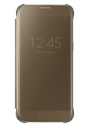 Samsung Clear View Cover pro S7 (G930) Gold - EF-ZG930CFEGWW