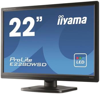 "LCD Monitor IIYAMA E2280WSD-B1, 22"", 5ms, DVI, repro - E2280WSD-B1"