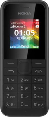 Mobilní telefon Nokia 105 (Dual SIM) Black - A00025877