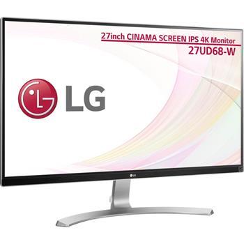 """LG IPS LED 27"""" 27UD68-W, 5M:1, 2x HDMI, DP, bílá - 27UD68-W.AEU"""
