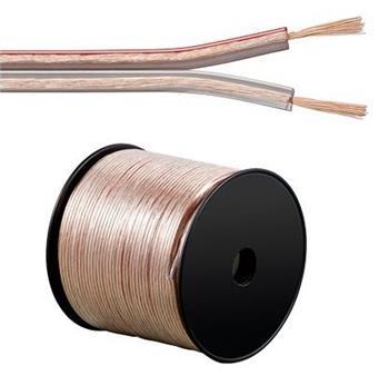 PremiumCord Kabely na propojení reprosoustav 100% CU měď 2x2,5mm2 1m - kjpr-02