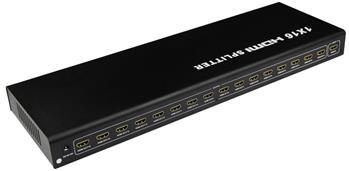 PremiumCord HDMI splitter 1-16 Port kovový s napájecím adaptérem, 3D, FULL HD - khsplit16b