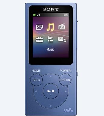 Sony NW-E393 hudební přehrávač Walkman®, 4GB - modrý - NWE393L.CEW
