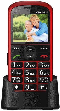 Mobilní telefon CPA HALO 11, červený - TELMY1011RE