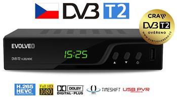 EVOLVEO Omega T2, HD DVB-T2 H.265/HEVC rekordér - DT-3060-T2-HEVC