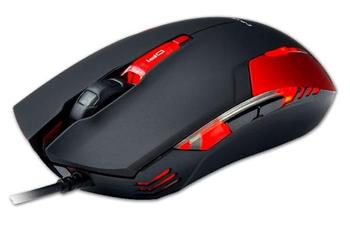 E-Blue Myš Cobra II, optická, 6tl., 1 kolečko, drátová (USB), červená, 1600DPI, herní - EMS151RE