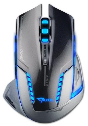 E-Blue Myš Mazer-R II, 2 ks AA, 2.4 [GHz], optická, 6tl., 1 kolečko, bezdrátová, šedá, 2500DPI, herní - EMS601GY