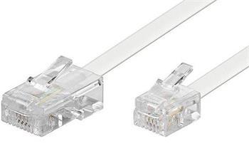 Telefonní kabel RJ45 - RJ11, 6m bílý - 11.92.9855