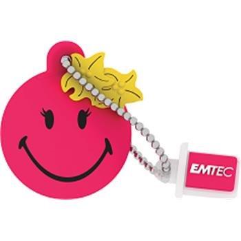 EMTEC SW111 Smiley Miss Hawaii Pink 8GB USB 2.0 - ECMMD8GSW111