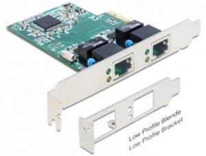 Delock PCI Express karta > 2 x Gigabit LAN - 89358