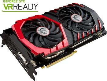MSI GeForce GTX 1080 GAMING X / PCI-E / 8192MB GDDR5 / HDMI / DP / DVI / VR Ready - GTX 1080 GAMING X 8G