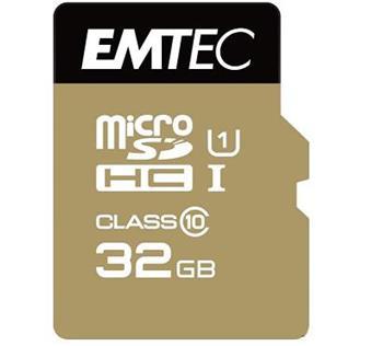 Emtec microSDHC 32GB Class 10 Gold+ (85MB/s, 21MB/s) - ECMSDM32GHC10GP