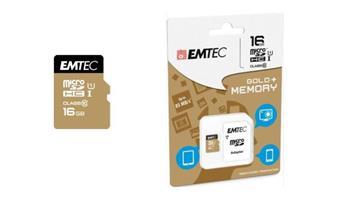 Emtec memory card microSDHC 16GB Class 10 Gold+ (85MB/s, 21MB/s) - ECMSDM16GHC10GP
