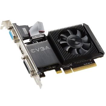 EVGA GeForce GT 710 2GB / PCI-E / 2048MB DDR3 / DVI / HDMI / VGA / low-profile / active - 02G-P3-2713-KR