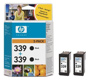 HP C9504E černá náplň č.339, 2-pack -C8767E - C9504E