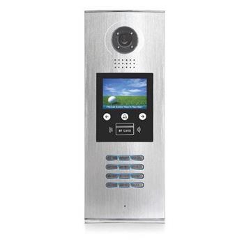 """XtendLan Dveřní stanice, pro větší budovy, LCD menu, číselník, RFID čtečka, CCD 1/3"""", dešť. kryt, podpora BDU - DPC-D218ID-S"""