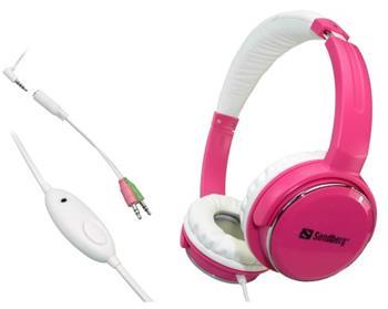 Sandberg sluchátka Home'n Street s mikrofonem, růžová - 125-90