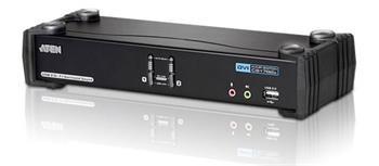 Aten CS-1782A DataSwitch elektronický 2:1 (kláv.,DVI,myš,audio 7.1) USB - CS-1782A