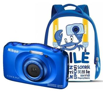 NIKON COOLPIX W100 Blue - Backpack kit - VQA011K001